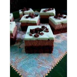 MINI9 Miniprajituri Duo mousse menta si ciocolata neagra