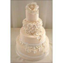 N17 Tort nunta Flori curgatoare
