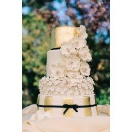 N34 Tort nunta Flori cu perle