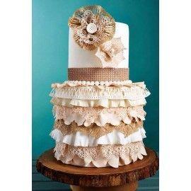 N41 Tort nunta elegant crem – ivoyre