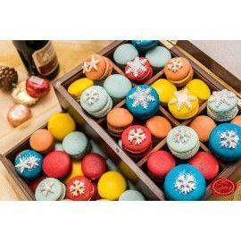 MA 6 - Macarons cu decor de iarna