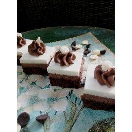 MINI7 Miniprajituri Duo mousse cicocolata alba si ciocolata neagra