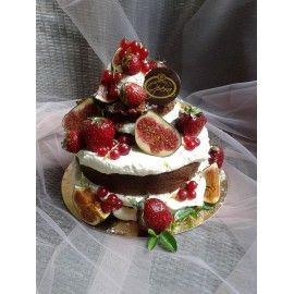 T21 Tort cu crema Naked si fructe proaspete