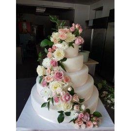 N7 Tort nunta cu flori naturale